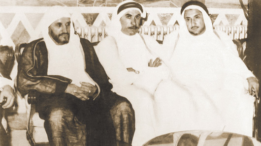 From right to left Abdullah, Abdurahman and Kassem, sons of Darwish Fakhroo