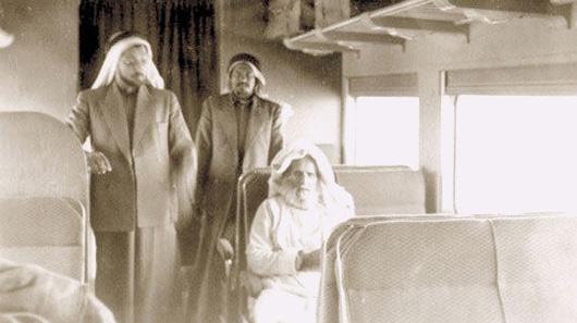 Sheikh Abdullah Bin Jassim Al Thani and Mr. Abdullah Darwish during the 40's