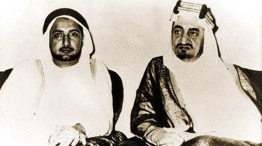 HRM King Faisal bin Abdulaziz Al Saud, Former King of Saudi Arabia, and Mr. Abdullah Darwish