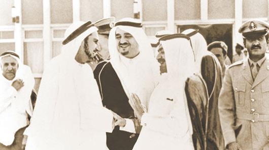 HH Sheikh Khalifa Bin Hamad Al Thani, Former Ruler of Qatar, HRM King Fahad Bin Abdulaziz Al Saud, Former King of Saudi Arabia, and Mr. Abdullah Darwish