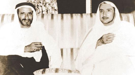 Mr. Abdullah Darwish with H.H. Sheikh Rashid Al Maktoum, former ruler of Dubai