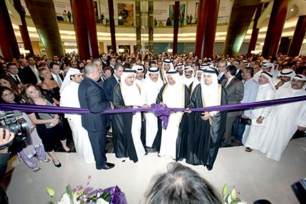 H.E. Abdullah Bin Hamad Al-Attiyah, Deputy Prime Minister of Qatar and H.E.Yousef Hussain Kamal, Minister of Economy and Finance of Qatar, at the opening of Fifty One East, Lagoona Mall on November 20, 2011