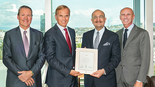 An appreciation award from Rolex commemorating the exceptional growth in Qatar
