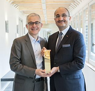 A recognition award for Boucheron-Qatar's best performance in the Middle East
