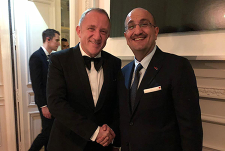 Mr. Bader Al-Darwish attended the exclusive dinner hosted by Mr. François-Henri Pinault, Chairman and CEO of Kering, mother company of Boucheron, in Paris