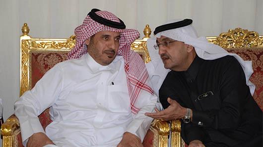 H.E. Sheikh Abdullah bin Nasser bin Khalifa Al Thani, former Prime Minister of Qatar and former Minister of Interior, with Mr. Bader Al-Darwish, Chairman and Managing Director of Darwish Holding.